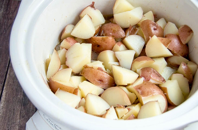 red skinned mashed potatoes slow cooker
