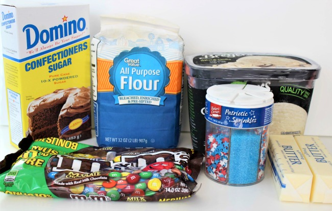 ingredients for the ice cream sandwiches