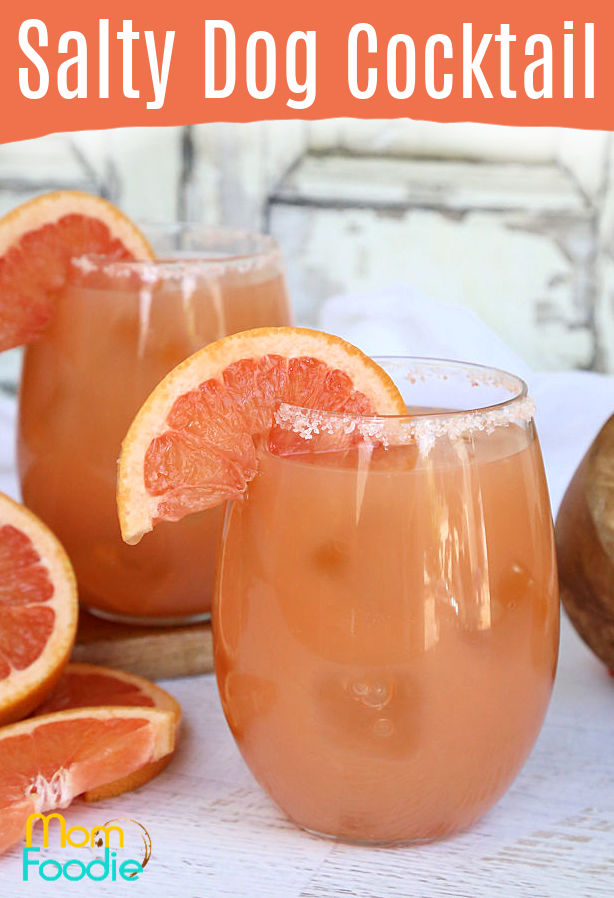 Pink Grapefruit salty dog cocktail