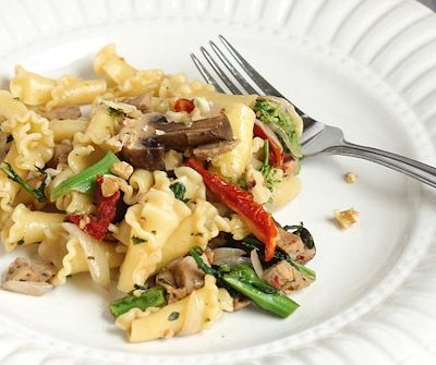 Campanelle with Sausage & Rabe: Healthy Italian Recipe