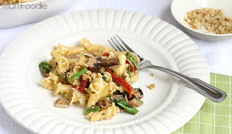 sausage rabe pasta with mushrooms