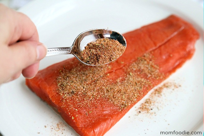 seasoning blacked salmon filet