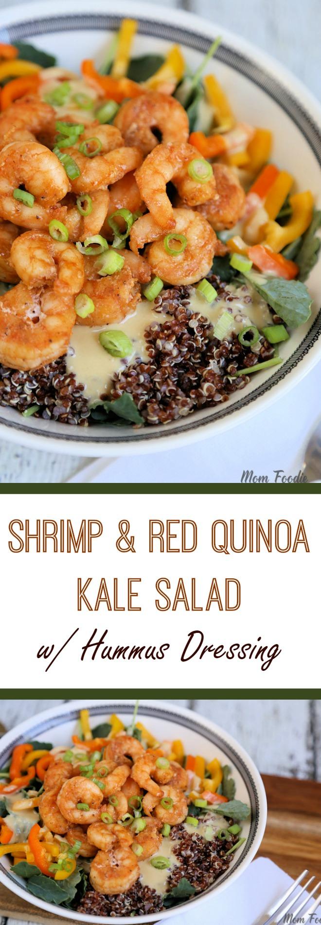 shrimp & Red Quinoa Salad
