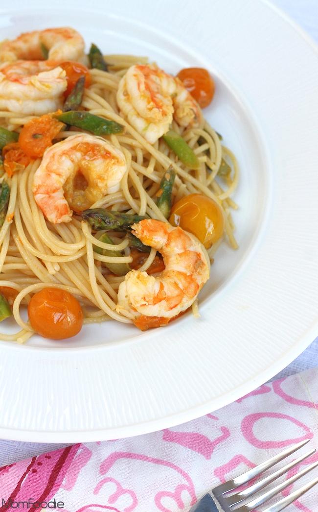 shrimp, asparagus  tomato ginger scampi recipe