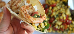 shrimp corn tacos feature