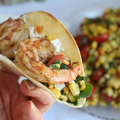 Fresh Grilled Shrimp & Corn Tacos Recipe