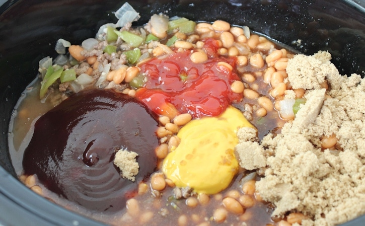 slow cooker beef and beans- ingredients