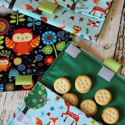 Cute DIY Lined Snack Bags : Easy Sewing Project