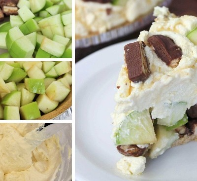 Snickers Caramel Apple Pie   Easy No Bake Dessert Recipe