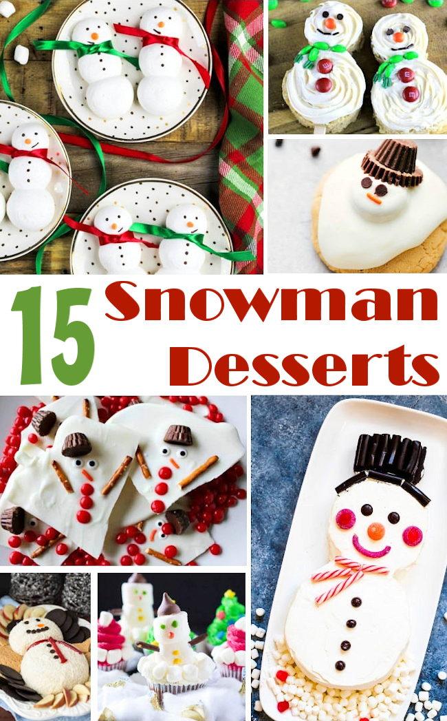 snowman desserts