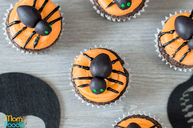 spider cupcake toppers