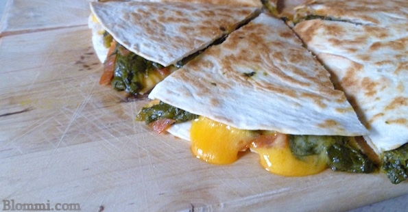 Try this super easy Spinach Pie Quesadilla recipe with your kids. You ...