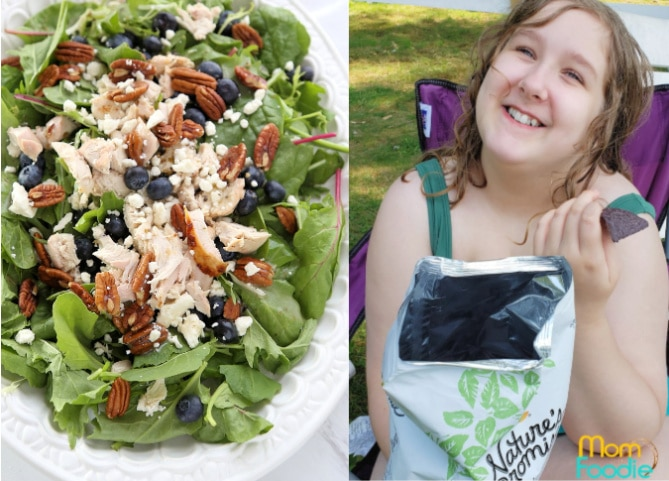 Blueberry Chicken salad + Healthy Beach snacks