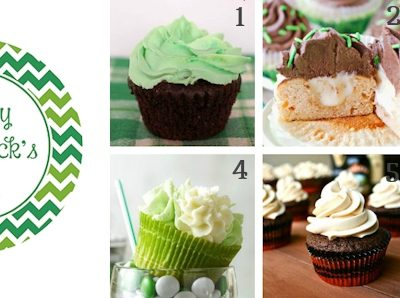 St. Patrick's Day Cupcake Collection & Free Printable Topper