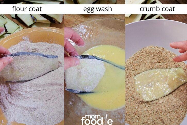 steps for breading eggplant