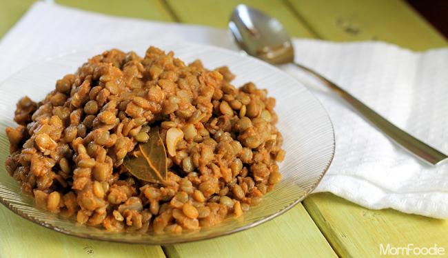 stewed lentils recipe