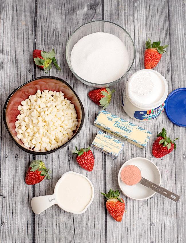 strawberry fudge ingredients