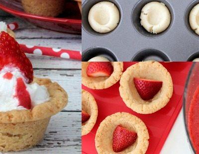 Semi-Homemade Strawberry Shortcake Cookie Cups Recipe