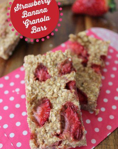 strawbery banana granola bars