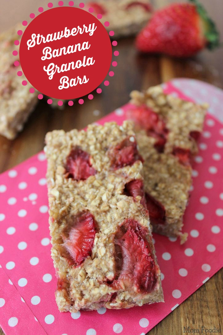 strawbery banana granola bars