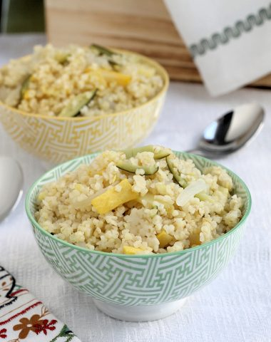 summer squash bulgur