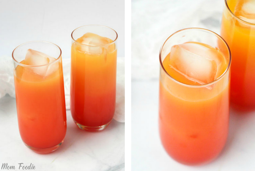 Tequila sunrise punch: Retro Cocktail