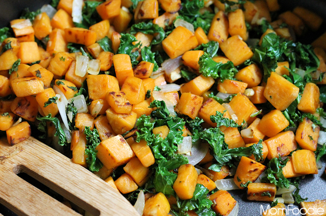 sweet potato and kale