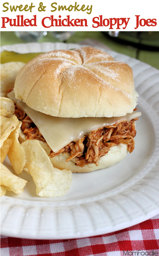 sweet & smokey pulled chicken sloppy joe
