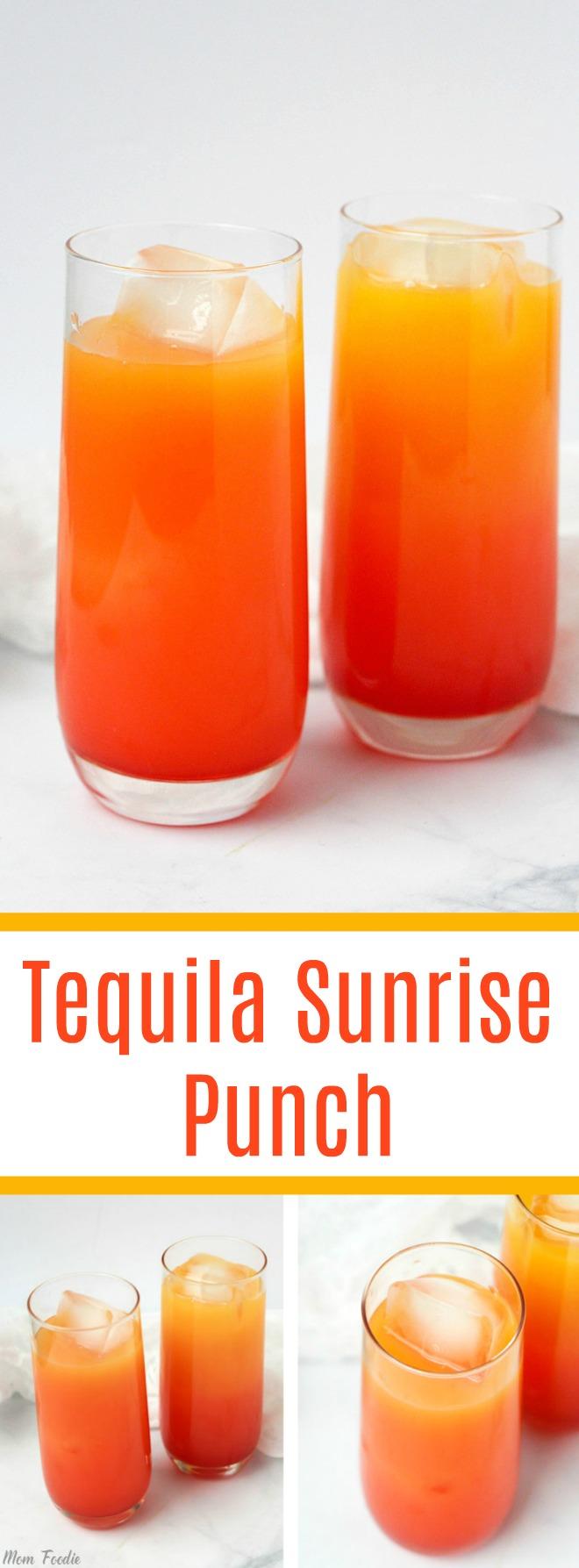 Tequila Sunrise Punch
