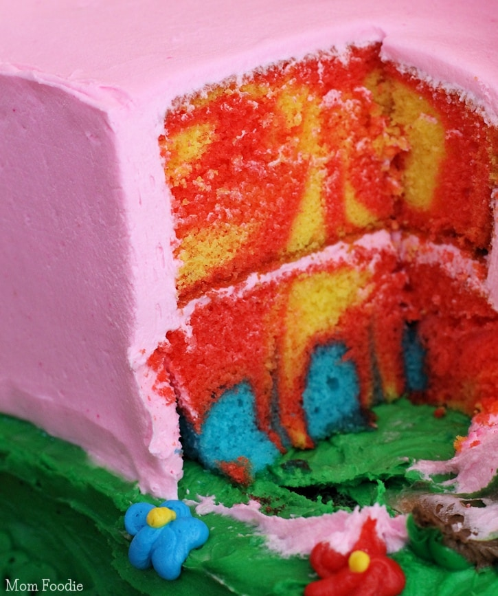 tie dye cake inside