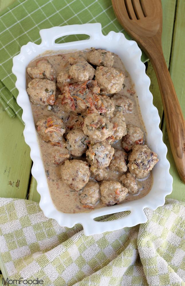 turkey meatballs in buttermilk almond sauce
