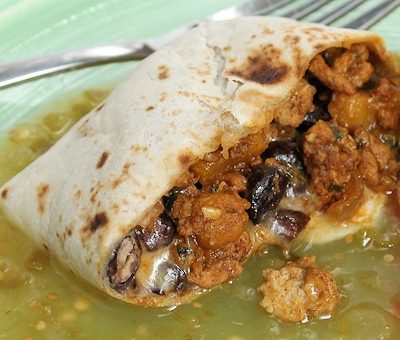 Turkey, Pumpkin and Black Bean Burritos (with Turkey-Pumpkin Filling Recipe)