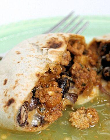 turkey pumpkin burritos with black beans