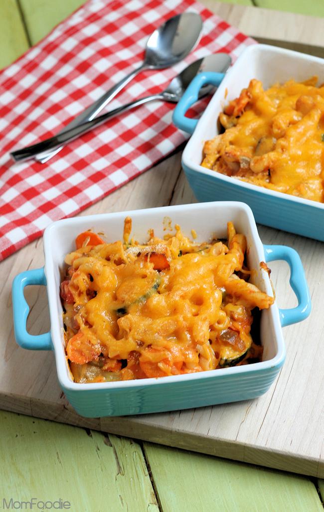 Easy Cheesy Veggie Salsa Mac