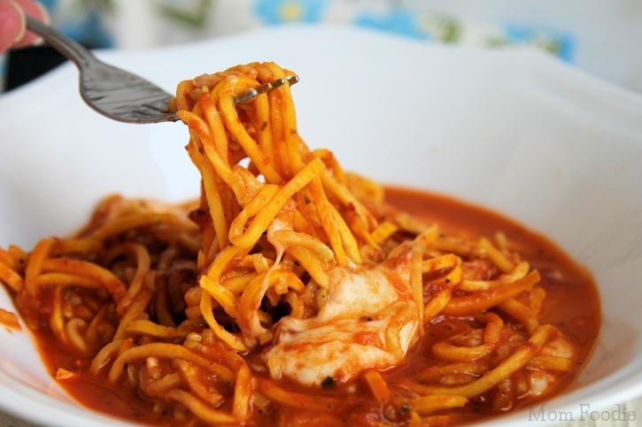 Yellow Zucchini Pizzaiola with Fresh Mozzarella| an easy low carb recipe